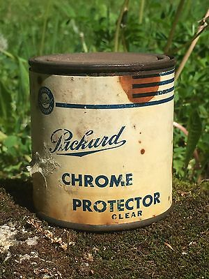 Vintage Packard Motor Car Co. Detroit Parts & Services Chrome Protector Can