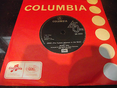 * Mint- Benny Hill The Fastest Milkman In The West Uk 1971 7 Inch 45 * Listen