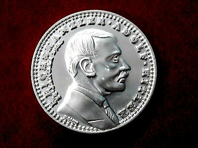 1933 Adolf Hitler Ww2 German Exonumia  Reichsmark Coin  Silvered + Holder