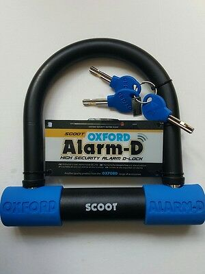 New,Oxford Alarm D Scoot 200mmL x 196mmW x 14mm Alarm Motorcycle U Lock Security