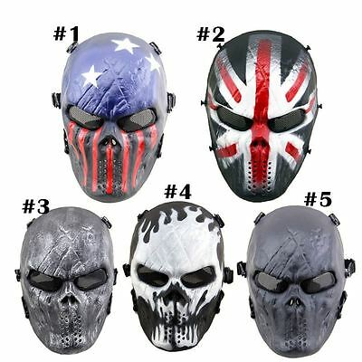 Full Face Skull Mask Airsoft Paintball Tactical Protection Outdoor War Game Gear