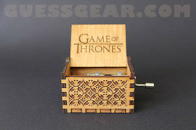 Game of Thrones Hand-Engraved Wooden Music Box