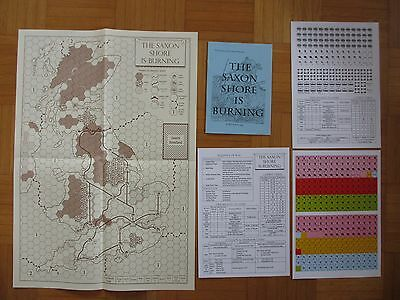 THE SAXON SHORE IS BURNING unpunched Board War Games Society of Ancients 2002