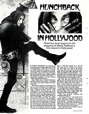 Marty Feldman : Hunchback In Holywood Article & Picture(S) (Young Frankenstein)