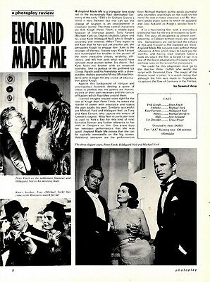 Peter Finch & Michael York In England Made Me Movie Review & Pictures
