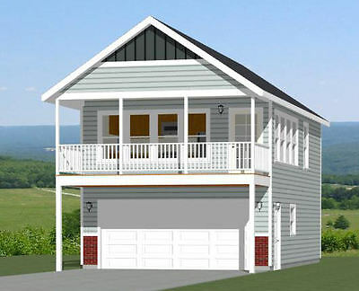 20x32 House -- 1 Bedroom -- 2 Car Garage -- PDF Floor Plan -- Model 6V