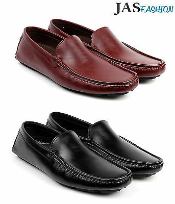 Mens Driving Slip On Casual Shoes Italian Loafers Boat Deck Moccasin Size 6-12