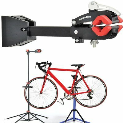Simple Wall Mount Pro Bike Bicycle Maintenance Mechanic Repair Folding Clamp SA
