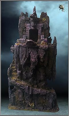 Rocky Cliff(1)- Wargame Scenery 28 Scale – Pro Painted