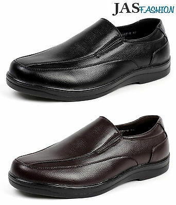 9c47e452c3 Mens Comfort Slip On Casual Walking Work Driving Shoes Classic UK School  Design