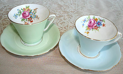 Royal Grafton,  tea for two, 4 piece,1930, pretty floral sprays in pastel colour