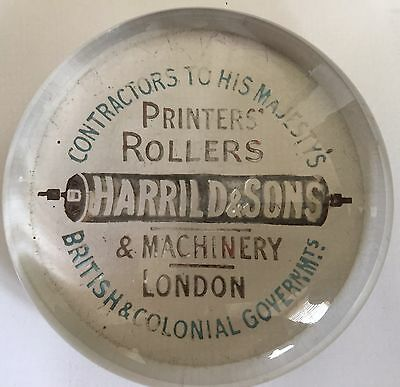Harrild and Sons Printers Rollers and Machinery Paperweight - Letterpress