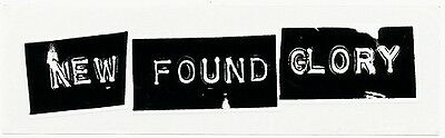 New Found Glory Sticks and Stones RARE promo sticker '02