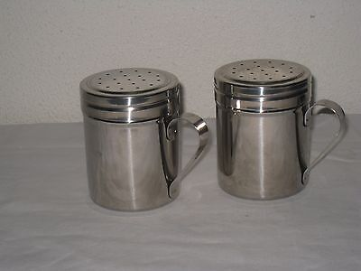 Stainless Steel 18/8 Salt & Pepper Shakers Set with Handles