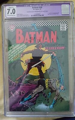Batman #189 1st silver age appearance of the Scarecrow (Jonathan Crane) CGC 7.0