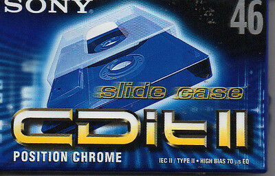 Lotto 3 Audio Cassette SONY CDit II 46 Position Chrome