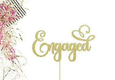 Engaged Cake Topper | Engagement | Shower | Hens Party Glitter