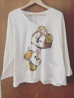 Disney Store Tsum Tsum Chip and Dale Shirt L