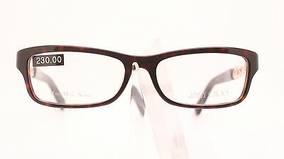 ffc00f3680e2 Jimmy Choo Jc 85 8Q2 Classic Ladies Brown Tortoise Plastic Glasses Frame