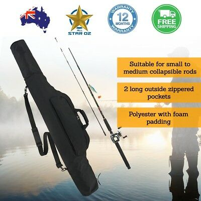 Fishing Rod Pole Holder Carry Bag Case  Accessories Carrier Storage Organiser