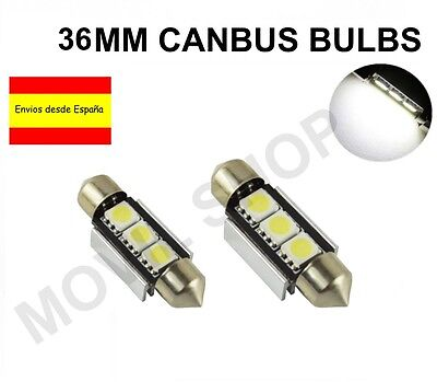 Bombillas Coche Festoon C5W 36Mm 3 Led Smd 5050 Matricula Canbus No Errores