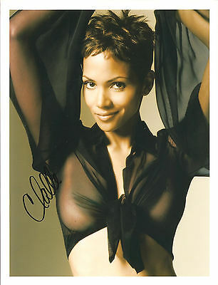 Halle Berry Signed 8X10 Photo Coa / N.a. # 268721