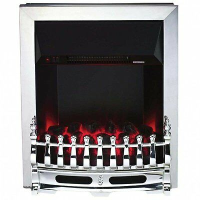 Hyundai Traditional Inset Electric Fire, Polished Chrome Trim  220V 1&2kW SALE