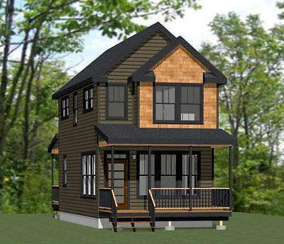 16x30 Tiny House -- 901 sq ft -- PDF Floor Plan -- Model 11