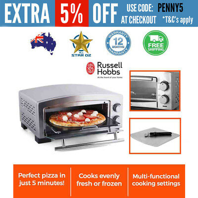 Electric Pizza Maker Oven with Cooker Stainless Steel Russell Hobbs