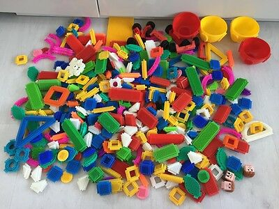 Huge Job Lot Over 3Kg Stickle Bricks Parts Pieces Bundle