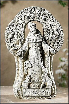 """New Tree Yard Garden Statue 12.5"""" Patron of Animals St Francis of Assisi Peace"""