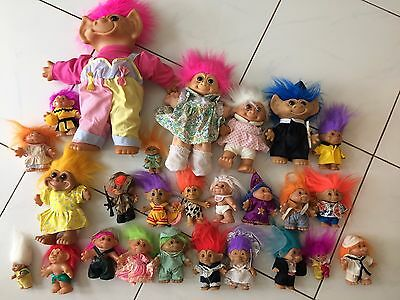 26 Troll Dolls. Collectable Trolls. Some Rare. Bundle.
