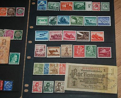 Nazi Stamp hoard Mint and Used (2).Third Reich, Hitler,WWII. Occupation Money