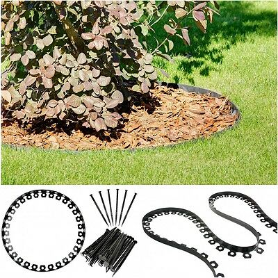 FLEXIBLE EDGE LAWN BORDER GRASS 10m + 35 PROFESSIONAL PINS ABSOLUTELY FREE !!