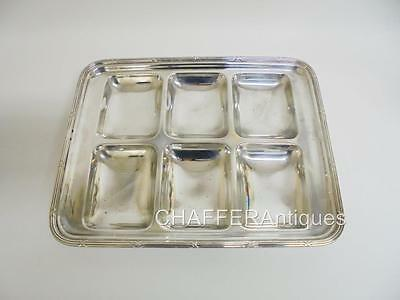 Rare MAPPIN & WEBB Prince's Plate Compartmentalised Serving Tray c 1890s