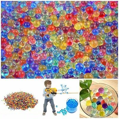 10000pcs Water Balls Crystal Pearls Jelly Gel Beads for Orbeez Toys Refill Decor