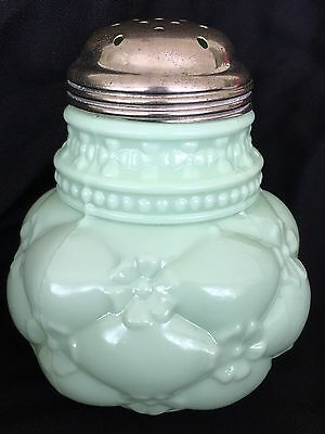 Beautiful Northwood Quilted Phlox Sugar Shaker Muffineer Eapg Opaque Late 19Th C