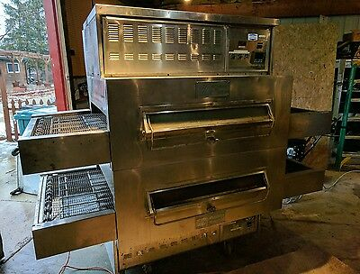 middleby marshall double stack pizza oven with hood
