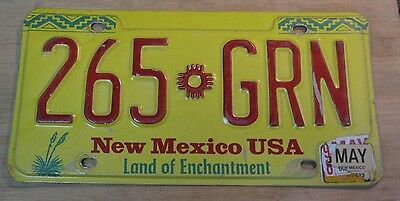 1998 New Mexico License Plate Expired 265 Grn