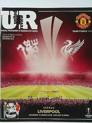 Manchester United v Liverpool Uefa Europa League 17th March 2016 Mint
