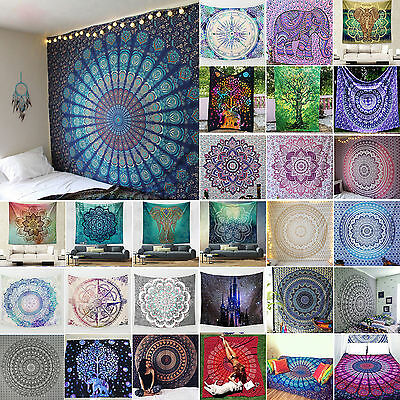 Indian Tapestry Wall Hanging Mandala Hippie Gypsy Bedspread Bohemian Beach Cover
