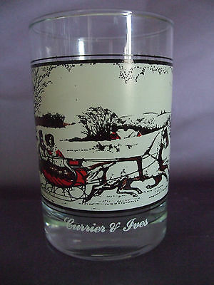 """Arby's Currier & Ives """"The Road in Winter"""" Collectors Series Glass"""