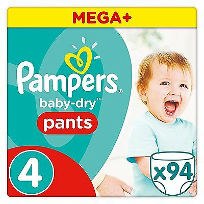 Pampers Baby-Dry Pants - Size 4, Pack of 94