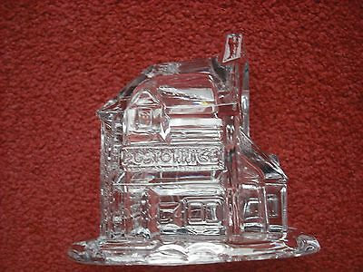 Anna Hutte Bleikristall German Lead Crystal Post Office Ornament Vgc
