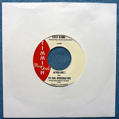 Myron And E with The Soul Investigators 'Cold Game' HTF Soul Timmion 45/2008. NM