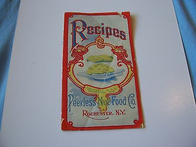 Antique Peerless Nut Food Co Recipes Advertising Pamphlet Rochester NY Peanut