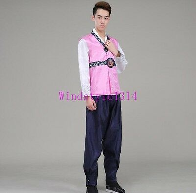 Korean Mens Hanbok Traditional Clothing Fashion National Costumes Court New Size
