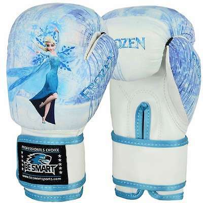FROZEN Kids Boxing Gloves Junior Mitts 4oz 6oz Punch Bag Children MMA Youth