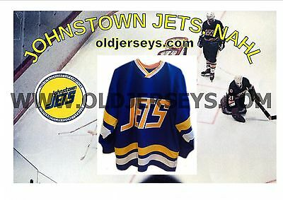 The old North American Hockey League Johnstown Jets 1970s Replica Hockey Jersey