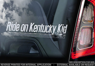 Nicky Hayden - Car Window Sticker - 'Ride on Kentucky Kid' MotoGP Decal 69 - V05